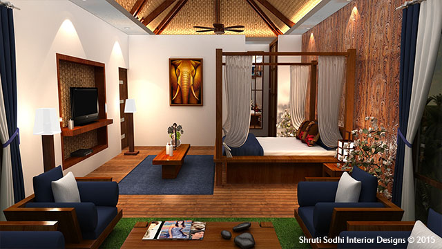 An image by Shruti Sodhi Interior Designs to show the good choice of colours in this luxury interior designing work