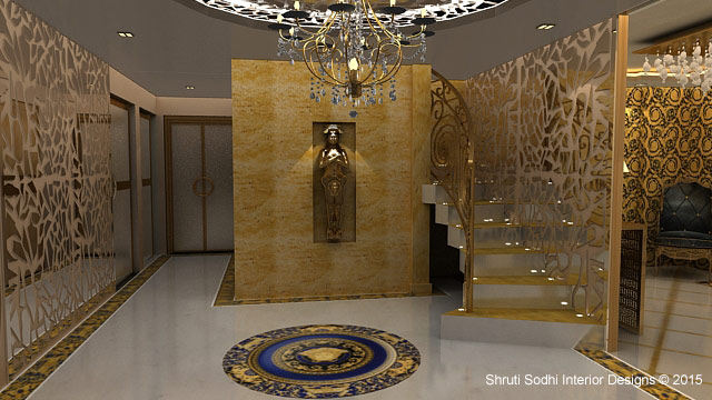 Image to depict Luxury Interior Designing done for Entrance Hall by Shruti Sodhi Interior Designs