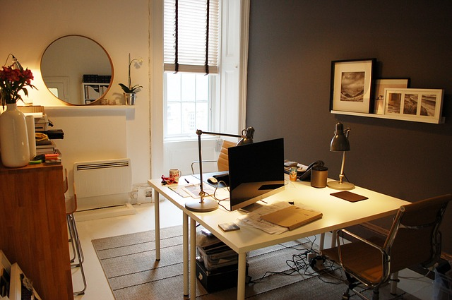 A look of simple and stylish interiors of a home-office - Shruti Sodhi Interior Designs