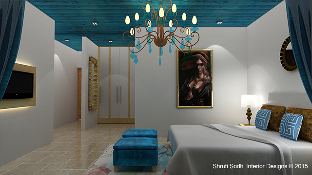 Interior view of a Guest room completed by Shruti Sodhi Interior Designs