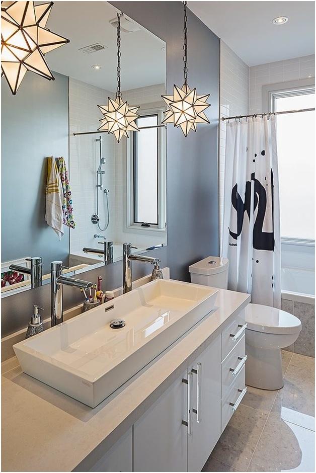 Use of Pendant Lights in Bath Room Interiors - Shruti Sodhi Interior Designs