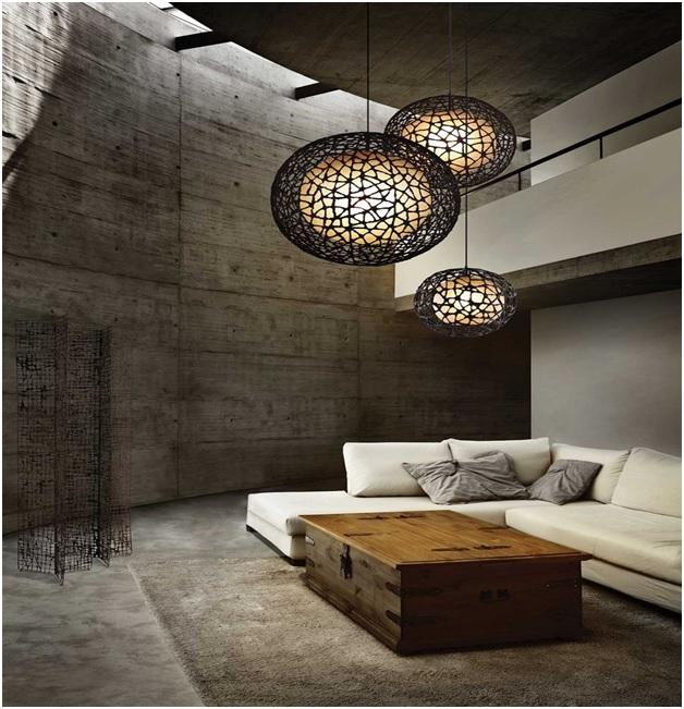 Use of Pendant Lights in Living Room Interiors - Shruti Sodhi Interior Designs