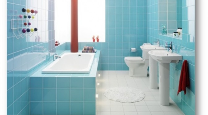 Soothing Blue Colour Bathroom Interiors - Shruti Sodhi Interior Designs