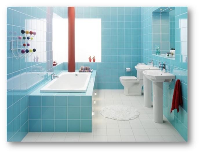 Soothing Blue Colour Bathroom Interiors - Shruti Sodhi Interior Designs