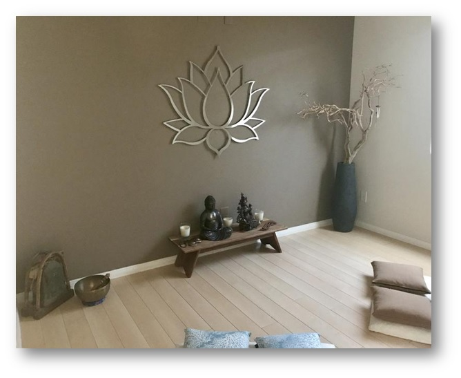 3D lotus flower wall hanging - Meditation Room Decor Tips