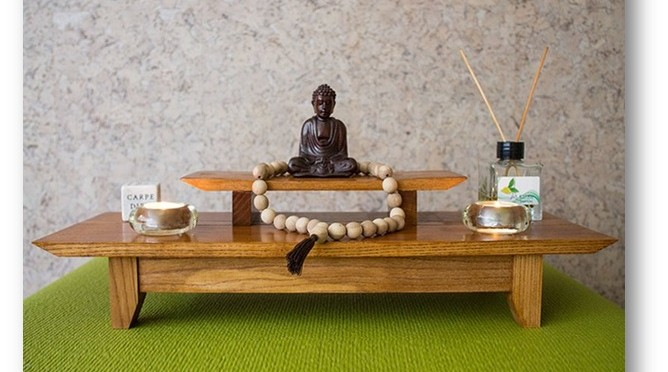 Altar in a meditation room - Decor Tips for Meditation Room