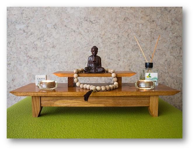 Altar in a meditation room - Decor Tips for Meditation Room