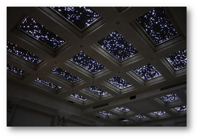 False Ceiling with Starry Night Look - Shruti Sodhi Interior Designs