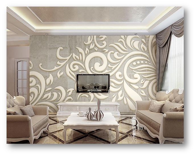 A minimalistic home decor with a wall pattern to attract attention - Shruti Sodhi Interior Designs
