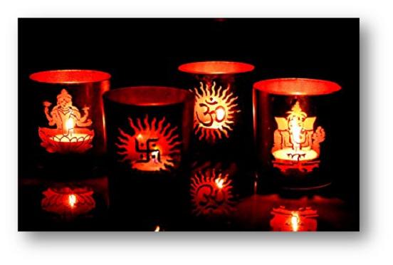 Aromatic Candle Light Decoration for Diwali - Shruti Sodhi Interior Designs