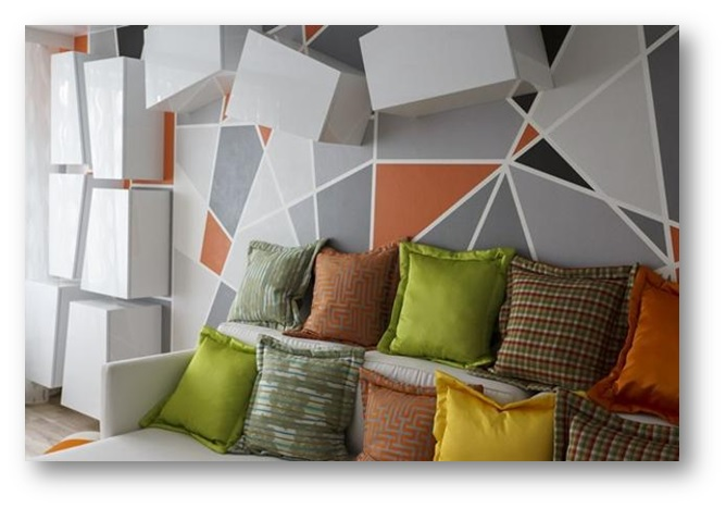 Interior decor with geometric shapes and patterns - SSID
