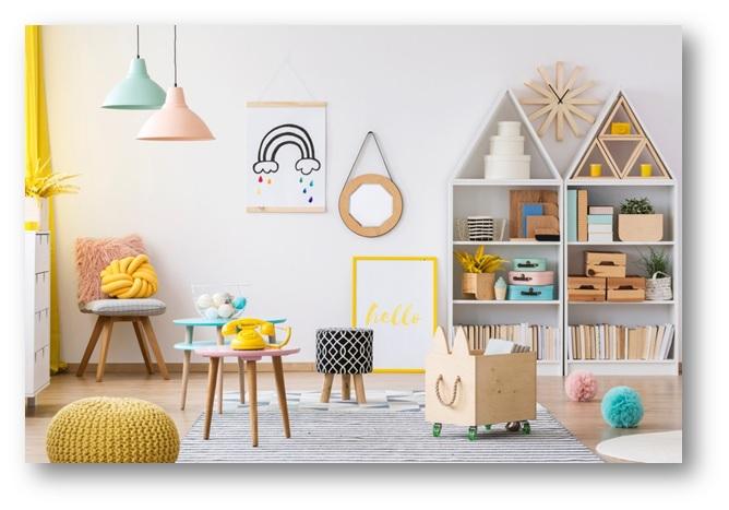 Book corner in a kids playroom area - SSID