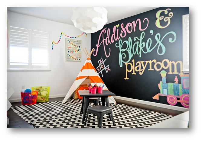 Chalkboard in your playroom - SSID