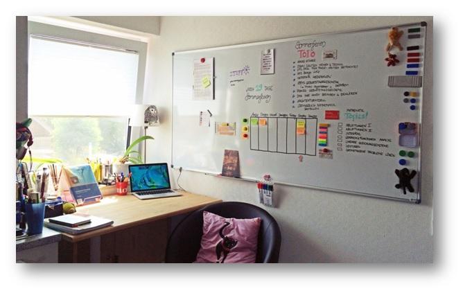 A whiteboard inside a study room - SSID