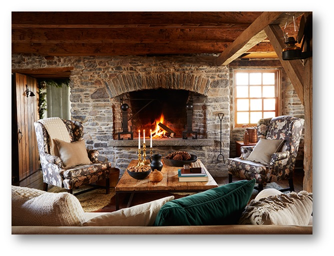 A room with fireplace mantel inside - SSID
