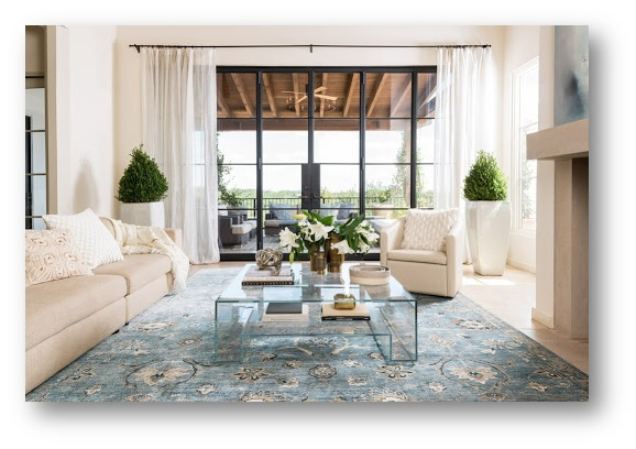 A living area with Silk Rugs - SSID