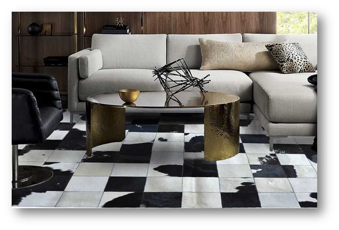 Living area with patchwork rugs - SSID