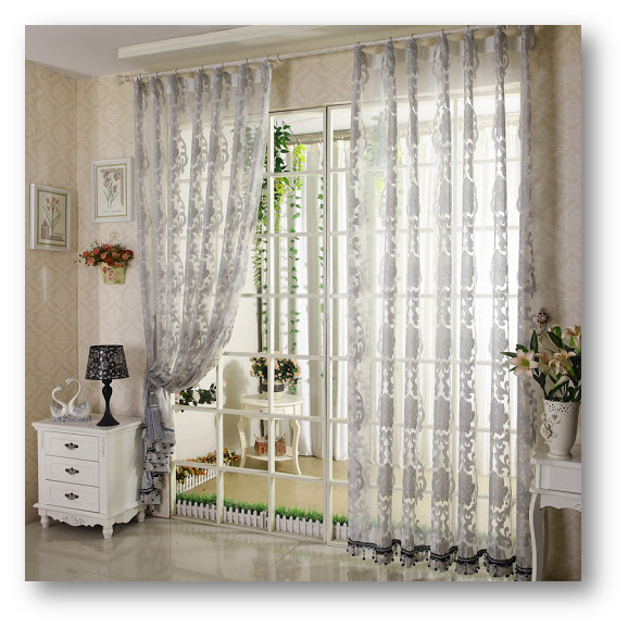 Room with curtains of eye-soothing light shades - SSID