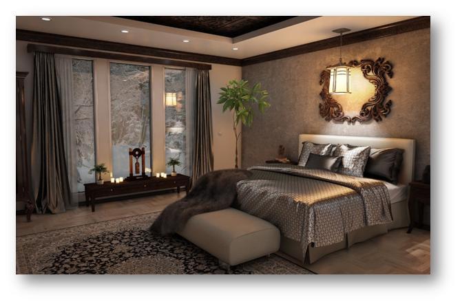 Bed placed inside a bedroom as per vastu shastra - SSID