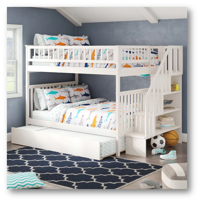 Bunk bed for a kid's room