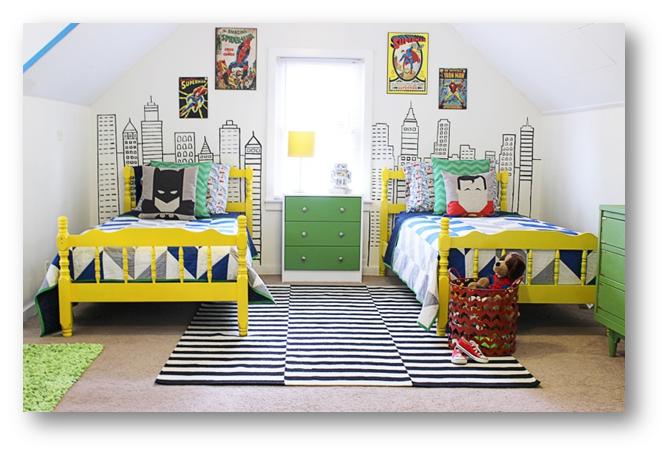 A superhero-themed kid's room - SSID