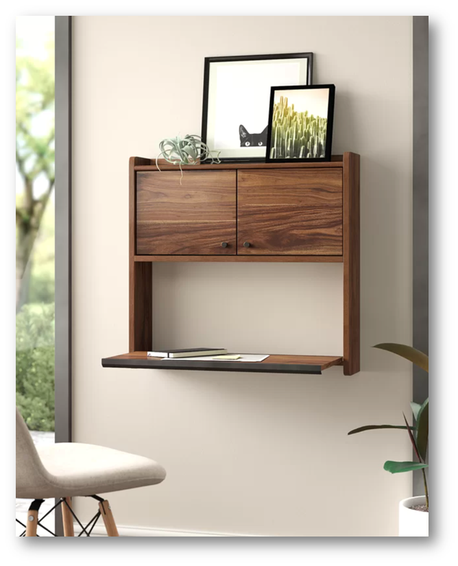 Floating desk for small bedroom or living room - SSID