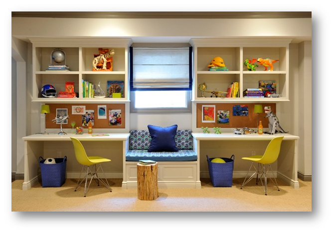 A kid's room with study space - SSID