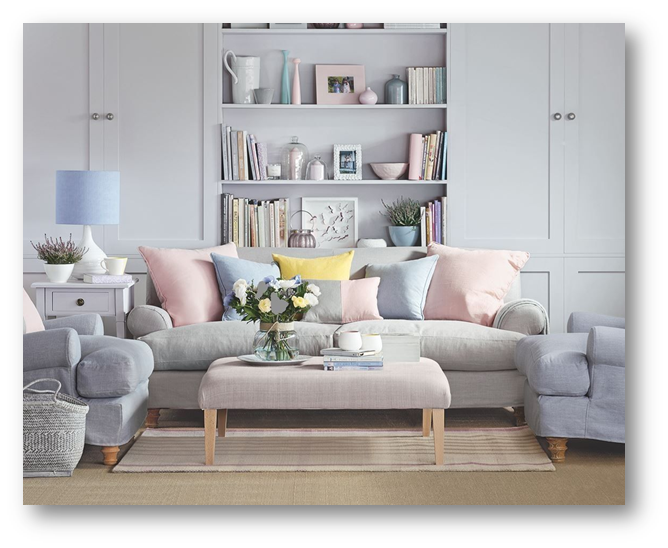 Home interiors with pastel hues and textures - SSID