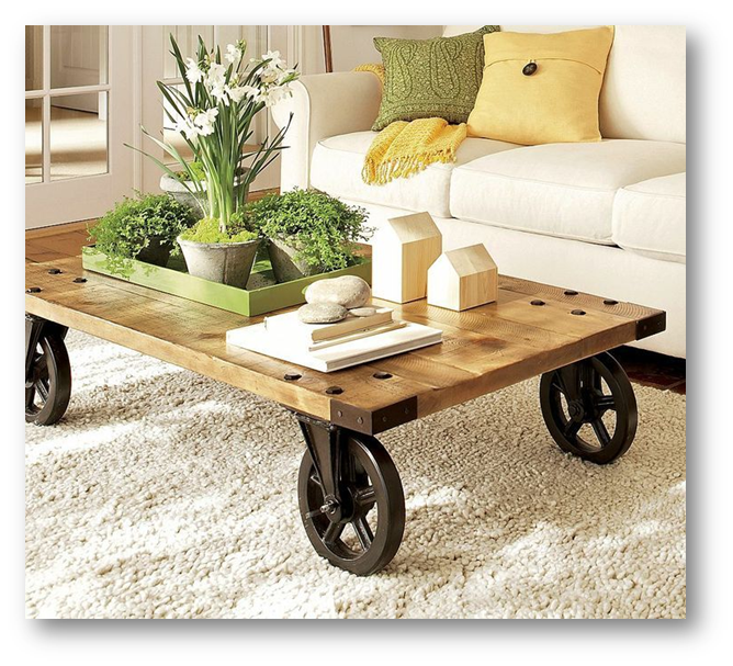 A coffee table on wheels - SSID