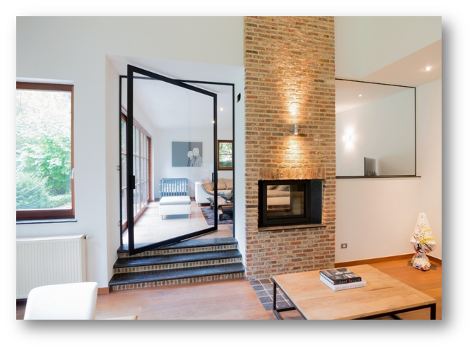 Pivot Doors - one of the most preferred contemporary door designs - SSID