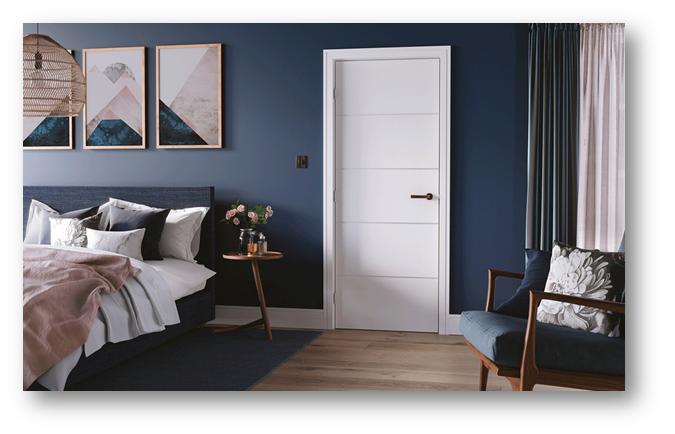 Sleek White Wooden Door - SSID