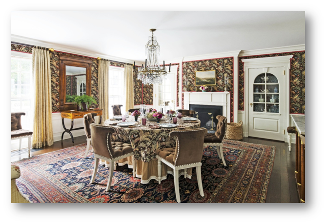 A dining room with the perfect blend of needed details - SSID