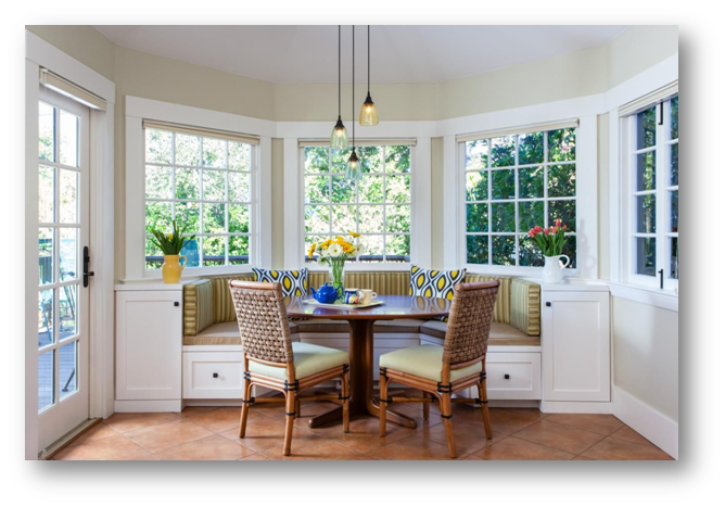 Dining space with built-in setting - SSID