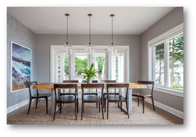Dining space with pendant lights - SSID