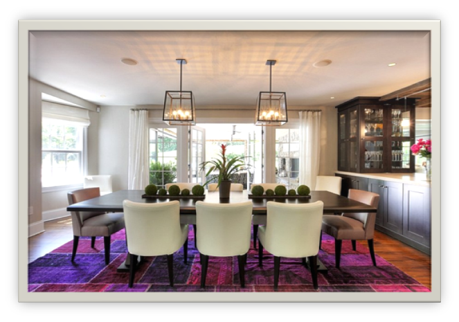 Use of complementary soft colors with bright shades in dining area - SSID
