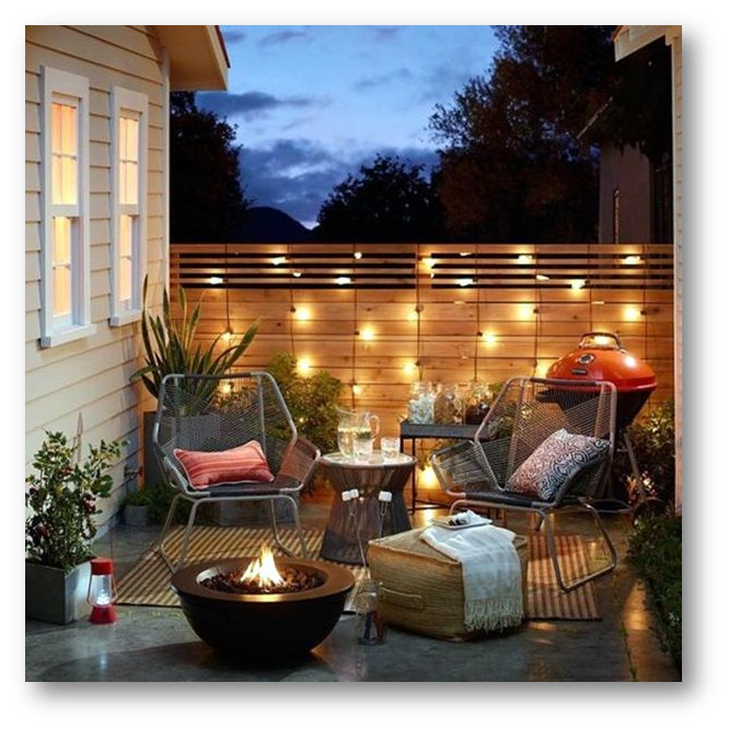 A terrace with beautiful lighting accessories - SSID