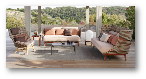 Outdoor furniture of rustic contemporary design - SSID