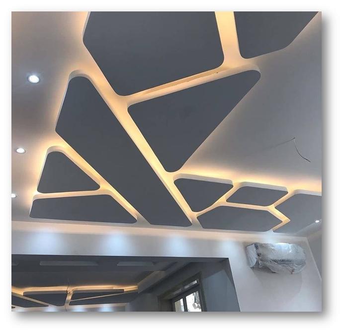 Zigzag false ceiling