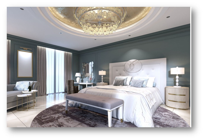 Bedrooms with lack of right lightnings